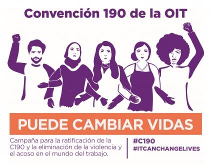 Organizaciones sindicales continúan solicitando se ratifique el convenio 190